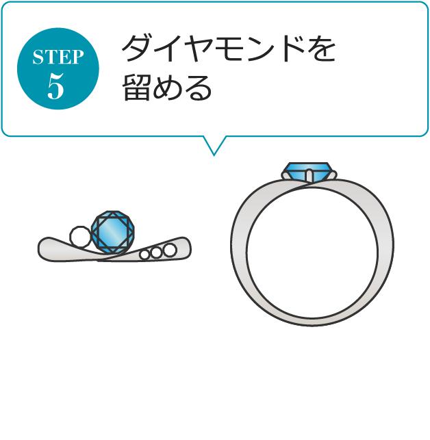 STEP5 ダイヤモンドを留める